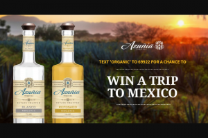 Eastside Distilling – Azunia Tequila Text To Win Sweepstakes