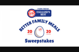 Eggland's Best – Better Family Meals Instant Win – Win (1) $5000.00 awarded in the form of a $5000.00 check (ERV $5000.00).