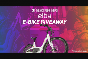 Electrify Expo – Elby E Bike Giveaway Sweepstakes