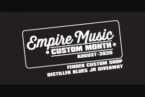 Empire Music – Fender Custom Distiller Blues Junior Amp – Win a FENDER CUSTOM SHOP DISTILLER BLUES JUNIOR #03511 (Valued at $2499)