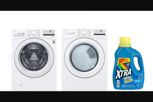 EXTRATV – Washer Dryer And A Year's Supply Of Xtra Laundry Detergent Sweepstakes