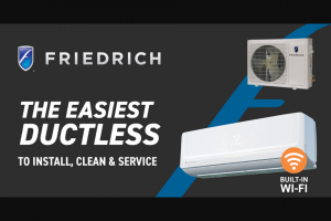 Fastenal – Friedrich August 2020 Giveaway – Win be won includes all of the following  One (1) Ductless Single Zone WiFi Enabled Air Conditioning System