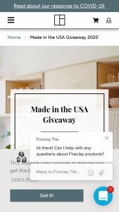 Fireclay Tile – Made In The USA Giveaway Sweepstakes