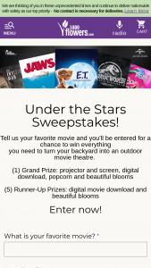 1-800-flowerscom – NBC Universal Under The Stars Sweepstakes