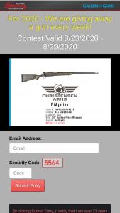 Gallery Of Guns – Great Gun Giveaway – Win Ridgeline rifle MSRP $1995.