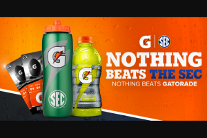 Gatorade – Nothing Beats The Sec Nothing Beats Gatorade – Win Description 	# Available Approx