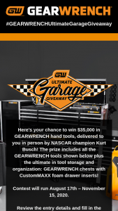Gearwrench – Ultimate Garage Giveaway (2020) Sweepstakes