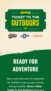 General Mills – Nature Valley Ticket To The Outdoors – Win one NATURE VALLEY product box