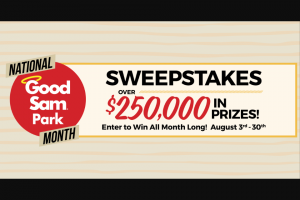 Good Sam – Park Month Sweepstakes