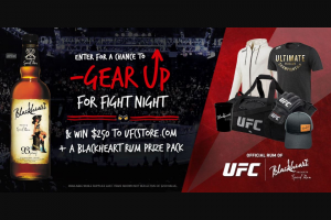 """Heaven Hill – Blackheart Ufc Fight Night 2020 – Win the Prize (""""Prize Winner"""") which will be a) one (1) two hundred and fifty dollar ($250.00) gift certificate code to UFCstorecom"""