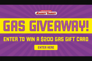 Iheart – Market Basket Free Gas Event – Win a $200 American Express Gift Card Prize Value $200 each