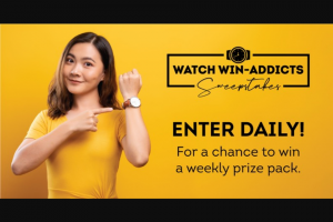 Imedia Brands – Watch Win-Addicts Sweepstakes