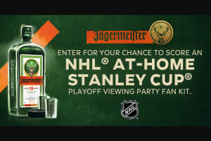 Jägermeister – NHL Return To Hockey Shot Of The Night Sweepstakes