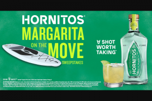 Jim Beam Brands – Hornitos Margarita On The Move – Win (3) Grand Prize winners will receive one (1) stand up paddleboard