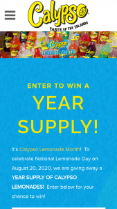 King Juice Company – Calypso Lemonade Month Sweepstakes