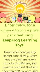 Leapfrog – Preschool Pro Tip – Win a $500 Walmart Gift Card