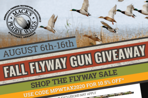Mack's Prairie Wings – Fall Flyway Gun Giveaway – Win Package ONE Stoeger 31869 P3500 12 Ga 3 1/2″ 24″ PG MOOB APPROXIMATE RETAIL VALUE OF THE ONE PRIZE TO BE AWARDED IS $399.99.