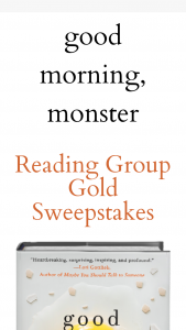 Macmillan – Good Morning Monster – Win a(n) One (1) advance readers' edition of GOOD MORNING MONSTER by Catherine Gildiner