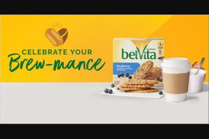 Mondelez Global – Belvita My Brewmance – Win coffee machine assorted belVita product assorted coffee two (2) coffee mugs and $350.00 in spending money