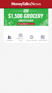 Money Talk News – $1500 Grocery Sweepstakes