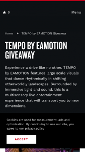 Nashville Convention & Visitors Corp – Tempo By Emotion Giveaway Sweepstakes