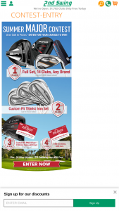 2nd Swing Golf – Summer Major – Win a $25 2nd Swing Credit