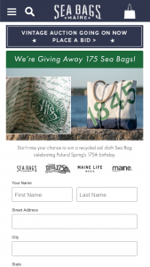 Nestle Water North America And Sea Bags – Poland Spring 175th Anniversary Sea Bags Sweepstakes