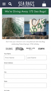 Nestle Waters North America And Sea Bags – Poland Spring 175th Anniversary Sea Bags Sweepstakes