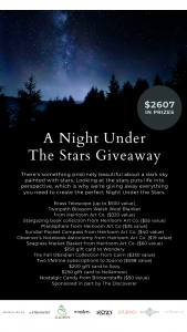 One Mercantile – A Night Under The Stars Sweepstakes