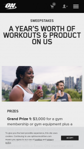 Optimum Nutrition – Better Than Before – Win a one-year supply of Optimum Nutrition products