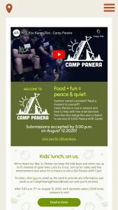 Panera – Camp Panera – Win a $20.00 Panera e-gift card
