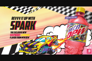 "Pepsi-Cola – Mtn Dew Revvv Up Your Dew Den Sweepstakes At Speedway – Win Neon Clock ten (10) beverage insulators and four (4) drink coasters (each a ""Weekly Entry Period Prize"")."