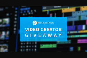 Pro Sound Effects – Video Creator Giveaway – Win includes Upgrade Your Sound Design Rig Bundle