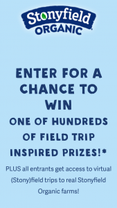 Stonyfield – Back To School Sweepstakes