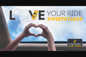 Synchrony Bank – Love Your Ride – Win form of a check