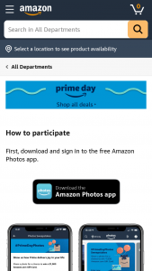 Amazon Photos – Prime Day – Win of $1000.00 in Amazoncom Gift Cards