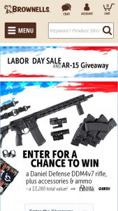 Brownells – Daniel Defense Labor Day Giveaway Sweepstakes