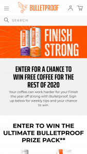 Bulletproof Coffee – Finish Strong – Win three 12-packs of Bulletproof Coffee ready to drink brew
