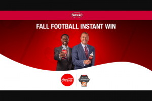 Coca-Cola – Kum & Go – Fall Football Instant Win Game Sweepstakes
