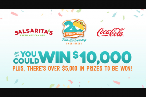 Coca-Cola – Salsarita's 20th Anniversary Sweepstakes