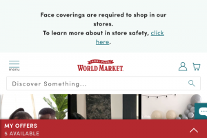 Cost Plus World Market – A World Of Joy Contest – Win a $25000 check