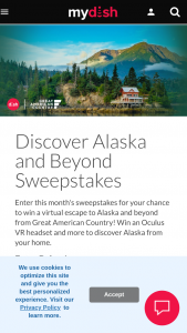 Dish – Great American Country Discover Alaska And More – Win Oculus Quest VR Headset (ii) One (1) $200 Gift Card to the Oculus Store (iii) One (1) Gift Bag of Great American Country Branded Premium Items