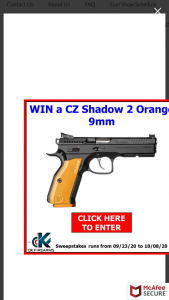 Dk Firearms – Current Gun Giveaway – Win Shadow 2 Orange 9mm with an MSRP of $1999.00