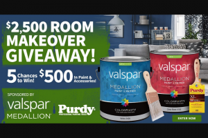 Do It Best Corp – Valspar $2500 Room Makeover Giveaway – Win for any reason or c) has violated therulesof the giveaway