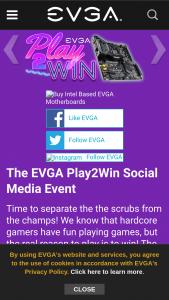 EVGA – Play2win Social Media Event 2020 Sweepstakes