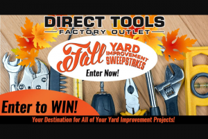 Gannett Media Daytona Beach News – Direct Tools Factory Outlet Giveaway Sweepstakes