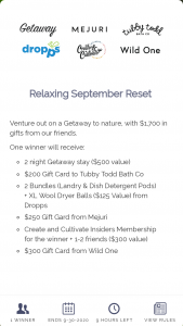 Getaway House – Relaxing September Reset Sweepstakes