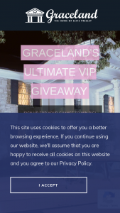 Graceland – Ultimate Vip Giveaway – Win the following (a) two (2) night stay for two (2) people in one (1) room at The Guest House at Graceland