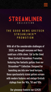 Gretsch – Streamliner  Sweepstakes