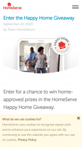 Homeserve – Happy Home Giveaway – Win one baseline model HVAC System upgrade